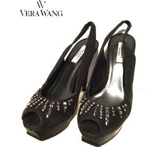 (Simply Vera Wang) sz 7 1/2 M open toe rhinestones